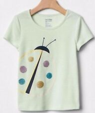 70% OFF!AUTH BABY GAP GIRLS' LADY BUG GLITTER GRAPHIC TEE 3 YRS BNEW US$12.99+