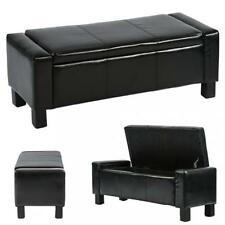 """Ottoman Storage Ottoman Bench Bedroom Bench with Faux Leather Rectangular 42"""""""