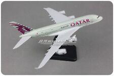 20CM QATAR AIRBUS A380 Passenger Airplane Plane Metal Aircraft Diecast Model