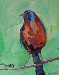 JOSE TRUJILLO Oil Painting IMPRESSIONISM CONTEMPORARY BIRD 8X10 MODERN ART