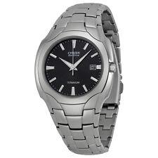 NEW Citizen Men's BM6560-54H Eco-Drive Titanium Black Dial Date Watch MSRP $325