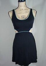 Victoria Secret Dress Open Waist A Line Push Up  Black Teal Size X-Small D47