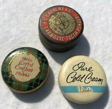 More details for 3 x early advertising chemist tins pot lids calvert toothpaste cole cream lot 12