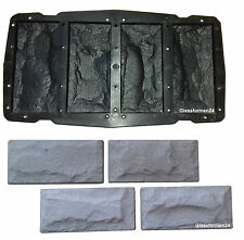 Eine Schalungsform Giessform Beton & Gips Fassade Wandverkleidung Riemchen TOP