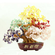 Gem Tree Multi Color Gemstone Tree Wire Wrapped Tree Feng Shui Good Luck Money.