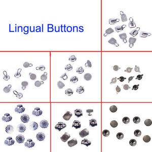 10 Pc Dental Lingual Buttons Bondable Crimpable Mesh Base/Perforated/Turbos Hing