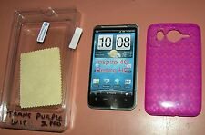 Translucent Purple Diamond Silicone Gel Slip case HTC Inspire 4G, Desire HD