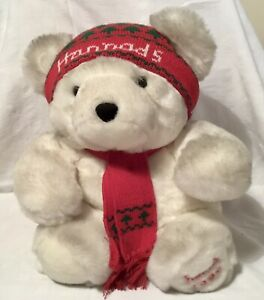 RARE HARRODS 1986 CHRISTMAS BEAR IN EXCELLENT CONDITION WITH HAT & SCARF