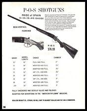 1971 P-O-S Product of Spain 12 20 28 ,419 gauge Shotgun Print Ad