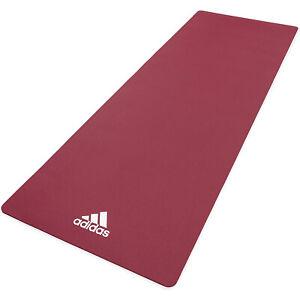 Adidas Universal Exercise Non Slip Fitness Pilates & Yoga Mat, 8mm, Mystery Ruby