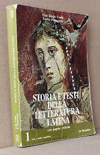 Storia e testi della letteratura latina con pagine critiche 1 alta e media Repub