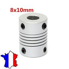 COUPLEUR 8x10mm - Shaft Flexible Coupling Coupler - 8*10 accouplement mécanique
