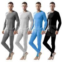 Men's Thermal Top Vest Shirts Winter Inner Warm Tops & Long Johns Underwear Set