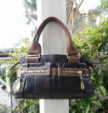 SEE by CHLOE  Authentic Women's   Black/Taupe Genuine Leather Handbag