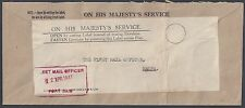 PALESTINE EGYPT UK 1947 OHMS COVER FLEET MAIL OFFICE PORT SAID TO HAIFA