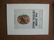 Tintin - The Seven Crystal Balls 1962 First Edition - Title Page - mounted page