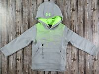 Youth Boy's Under Armour Threadborne Tilt Green And Gray Hoodie Size XS