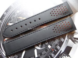 Omega Speedmaster Racing Co-Axial 21mm Black Leather Deployant Strap