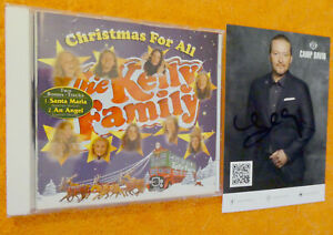 The Kelly Family CD Christmas For All + AUTOGRAMMKARTE SIGNIERT von Joey Kelly!!