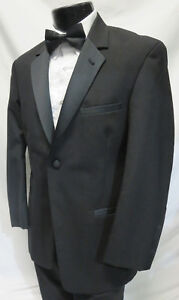 42XL Classic Black 100/% Wool Double Breasted Tuxedo Jacket Formals Wedding Cheap