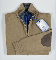 Cardigan Giacca con Zip Ocean Star misto Lana Lambswool con Toppe Made in Italy