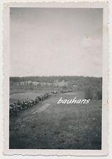 Foto Bevölkerung-Flüchtlinge mit Pferden-Wagen-deutsche Soldaten 2.WK (i574)