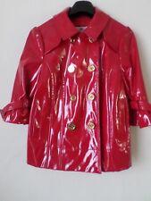 Superbe Femme nouveau Rouge Juicy Couture Brillant en cuir synthétique Veste Taille: S US$ 248
