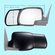 2 CLIP-ON TOWING MIRRORS tow extension side rear view hauling extender Chevy 2