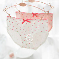 Girl Kawaii Lolita Cute strawberry Bowknot Underpants Panties Underwear Briefs
