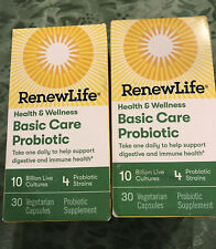 *2* RENEW Life Health Wellness Basic Care Probiotic 30 In Sealed Box ! Exp 12/20