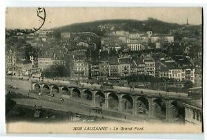 CPA Suisse Lémanique Lausanne Le Grand Pont