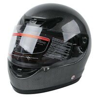 Motorcycle Carbon Fiber Flip Up Full Face Street Adult Helmet DOT S M L XL