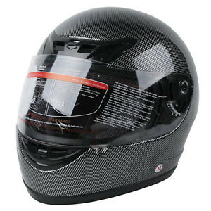 Motorcycle Carbon Fiber Flip Up Full Face Street Adult Helmet DOT S M L XL