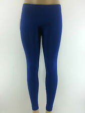 KATHY Royal Blue Stretch Nylon Long Skinny Leggings One Size Footless