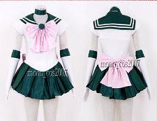 Sailor Moon SM Makoto Kino/Sailor Jupiter Cosplay & gloves petticoat Custom-made