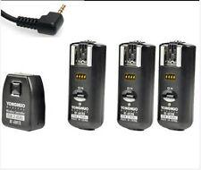 RF-602 Wireless Flash Trigger 3 Receivers Canon 550D 450D 1000D 60D 600D 1100D