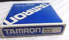 originale Tamron 58mm UV Foschia OBIETTIVO VETRO PROTEZIONE Filtro 58 mm OEM