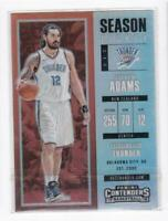 2017-18 Steven Adams Panini Contenders Season Ticket silver