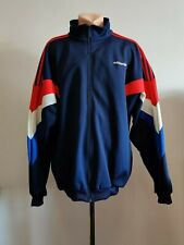 Football jacket soccer Training Adidas Vintage Tracksuit Zip 90s Red Blue Top Xl