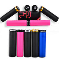 1 Pair Bike Bicycle Handlebar Grips Cycling Silicone Gel Lock-on Grip Fixed Gear