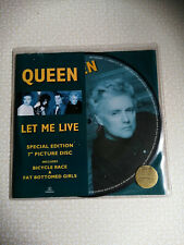 """QUEEN - LET ME LIVE - 7"""" PICTURE DISC - NEW"""