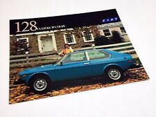 1976 Fiat 128 Custom 3P Coupe Information Sheet Brochure