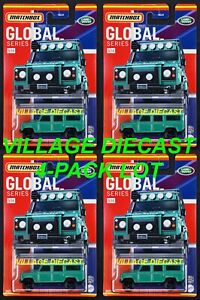 2021 Matchbox Global Series #5 Land Rover Defender 110 GREEN / 4-PACK LOT / MOC