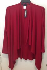 Travel Elements women's size 3x cardigan . Red. NWT