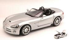 Dodge Viper Srt/10 2003 Silver 1:18 Model MAISTO