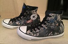 Limited Edition Batman Converse All Star Hi Top Canvas Trainers Size 4