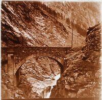 Algeria Vecchio Pont Foto Stereo PL58L29n4 Placca Lente Vintage