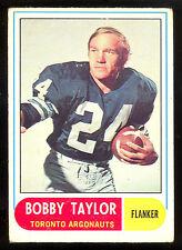 1968 OPC CFL FOOTBALL #36 BOBBY TAYLOR VG-EX  TORONTO ARGONAUTS CARD