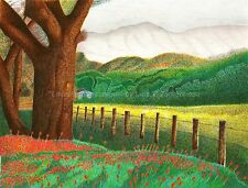 """Nature Country Side Scene ORIGINAL signed Pointillism 8.5""""x11""""  by LuZimm"""