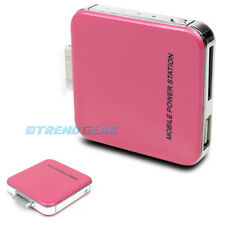 2200MAH PORTABLE EXTERNAL PINK BATTERY MOBILE CHARGER USB IPHONE 4S 4 3GS IPOD